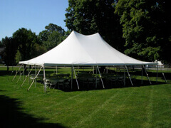 Large self setup tents for disaster relief