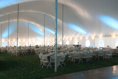 Small heated tent rentals